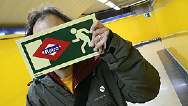 Un miembro de Red Retro, en Callao (foto: Sergio González).