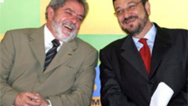 Lula y Palocci, en una foto de archivo (Foto: Reuters)