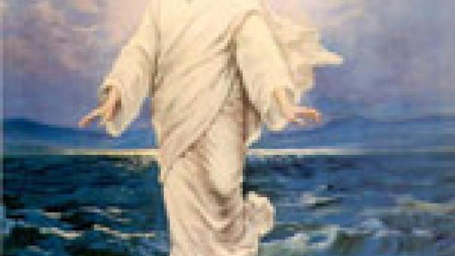 Jesús sobre las aguas.
