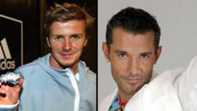 """David Beckham y Jesús Vázquez, los dos más elegantes """"sin corbata""""."""