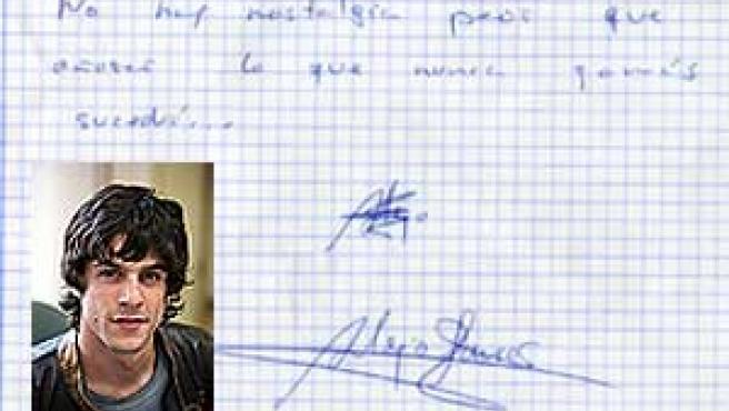 La letra de Alejo revela muchos rasgos de su personalidad