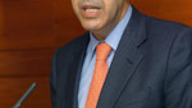 Fernando Moraleda en la rueda de prensa que ofreció hoy. (Efe)