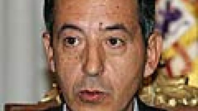 El delegado del Gobierno en Madrid, Constantino Méndez, durante su comparecencia esta tarde en rueda de prensa (Efe)