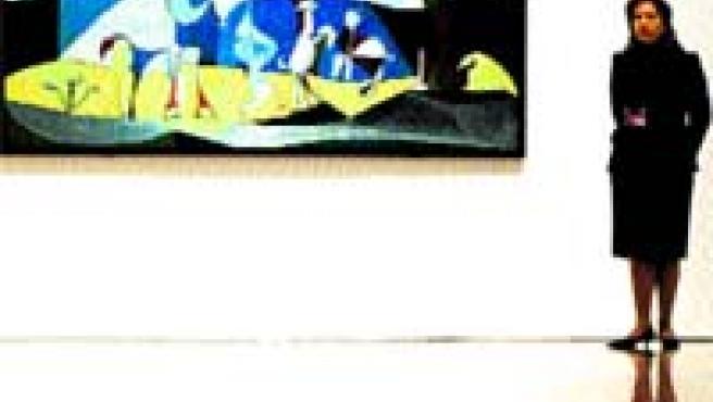 Una de las obras de Los picassos de Antibes, que hoy dispone de guía.