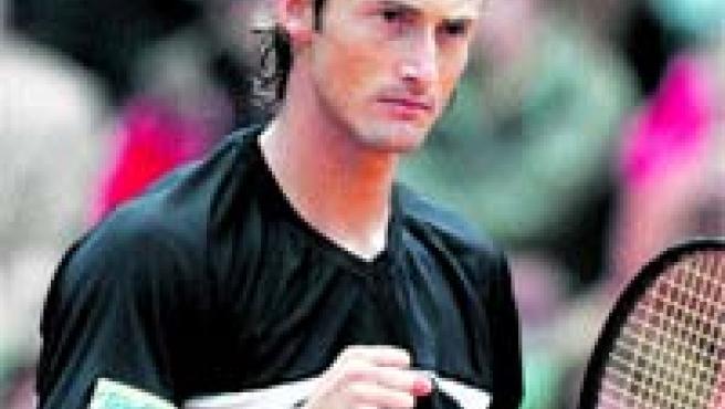 Juan Carlos Ferrero, tras ganar ayer.