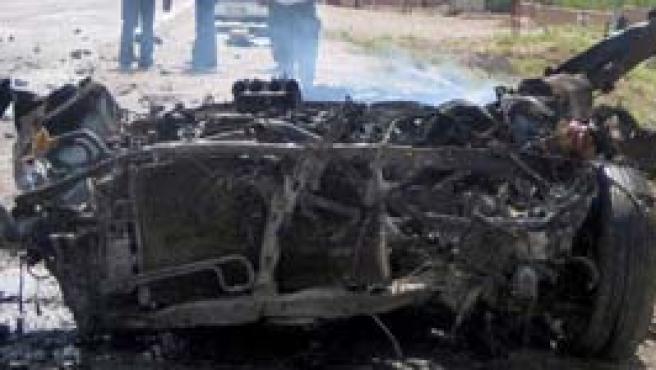 Restos de un atentado suicida en Herat. (Efe)