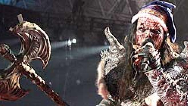 El cantante de Lordi, durante la gala (Foto: Efe)