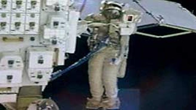 Imagen del paseo espacial en la ISS (FOTO: Nasa).