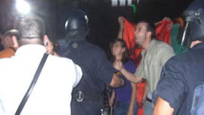 Imagen de los incidentes, según Ciutadans de Catalunya.