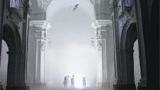 Así se ha quedado, tras el trabajo de Marty, la cúpula de la iglesia de Verónicas.
