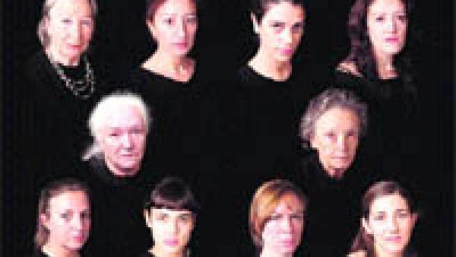 Todas la actrices de esta obra eminentemente femenina.