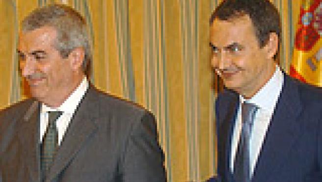 Popescu y Zapatero en La Moncloa.