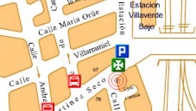 Lugar del suceso (ampliar imagen).