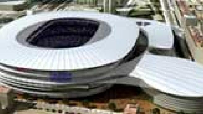 Imagen del nuevo estadio de Mestalla (ampliar)