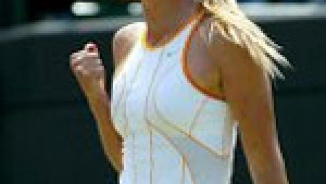 Sharapova, en el último Wimbledon. (Efe)