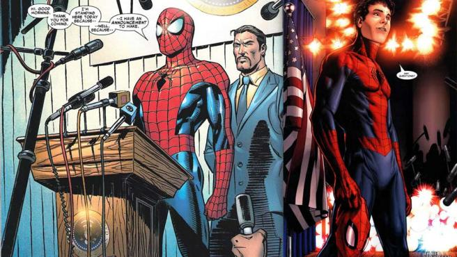 El destape de Spiderman (imagen: El daño de Luzbel)