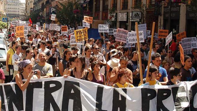 La marcha, poco después de su comienzo (foto: QuieresCallarte ).