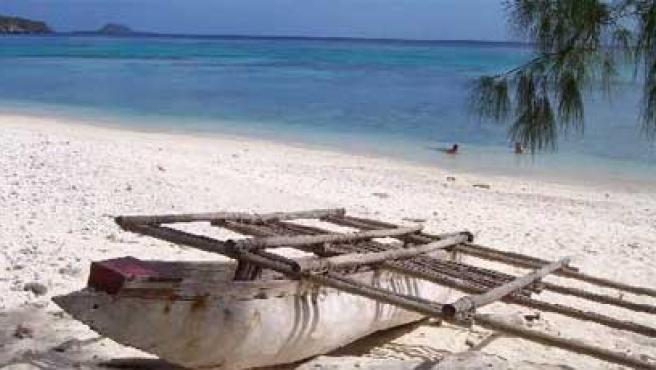Imagen de una playa de la isla de Vanuatu.