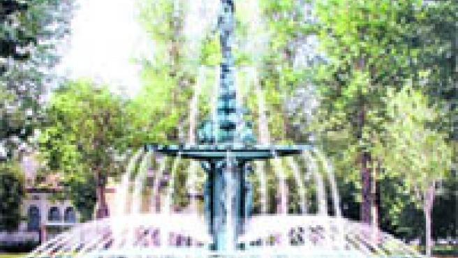 Imagen virtual de la fuente ornamental que se construirá en el paseo del Salón.