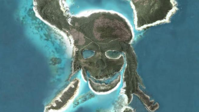 La Isla Pirata en Google Earth.