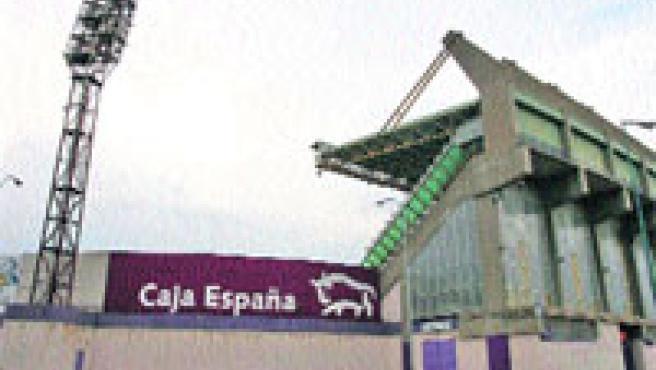 El muro del fondo sur del estadio José Zorrilla, del que se tirarán seis metros. Pablo Elías.