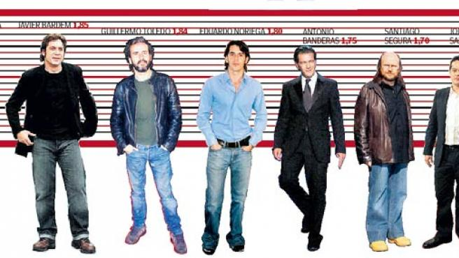 Los actores españoles no son precisamente altos, excetuando a José Mª Pou. (20 MINUTOS)