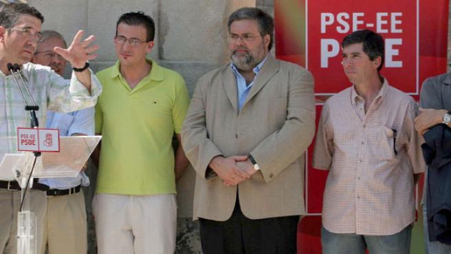 El secretario general del PSE-EE, Patxi López, durante su intervención en un acto en Bilbao.(Miguel Toña / Efe)