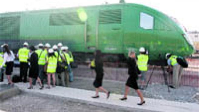 El viaje de prueba realizado ayer arrancó en Antequera, cuya estación estará a 17 kilómetros del centro urbano (M. Mesa).