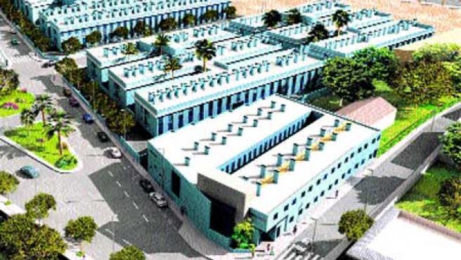Simulación virtual del complejo residencial en construcción en Sant Vicent.