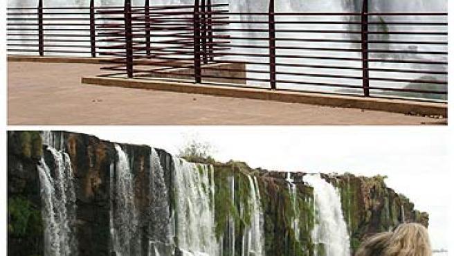 Las cataratas de Iguazú, antes y después de la sequía. (Reuters)