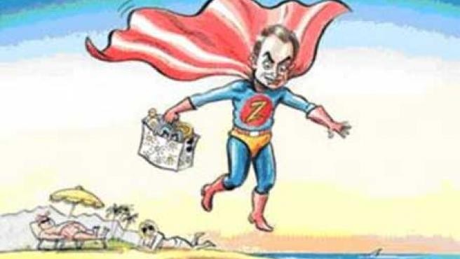 Caricatura de Zapatero publicada en The Economist