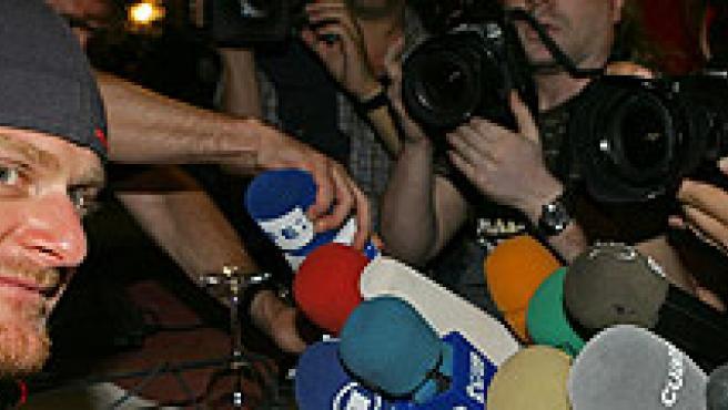 Landis, en rueda de prensa. (Reuters)
