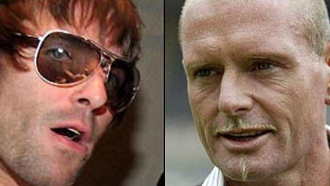 Liam Gallagher y Paul Gascoigne. (20MINUTOS.ES)