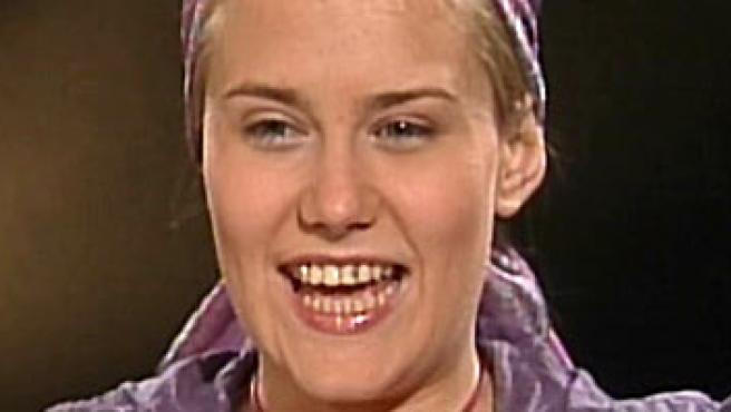 Natascha en su entrevista televisiva al canal austriaco ORF.