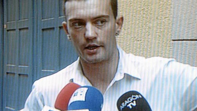 Jose Enrique, captado por las cámaras de televisión (EFE).