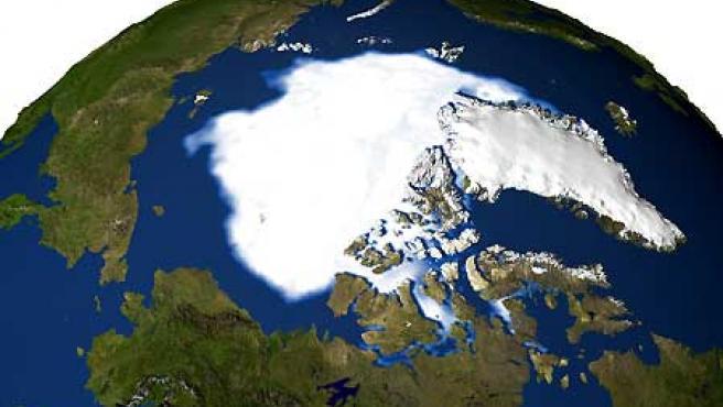 Una superficie de hielo perenne mayor que España se derrite en el Ártico entre 2004 y 2005, el 14% del total. (Nasa)
