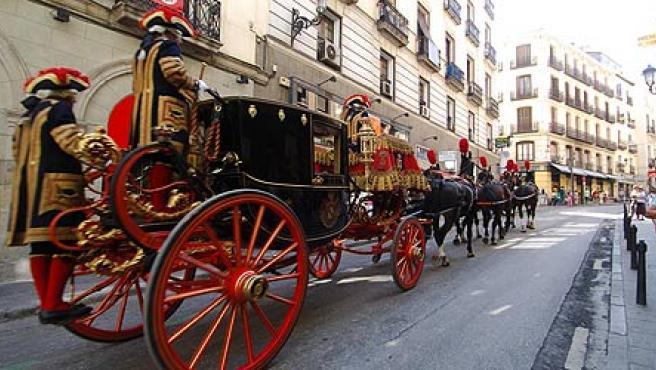 Su excelencia de Kuwait, en carroza por el centro de Madrid (Jorge París)
