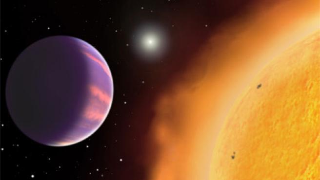 El nuevo planeta, junto a su estrella (Harvard-Smithsonian).