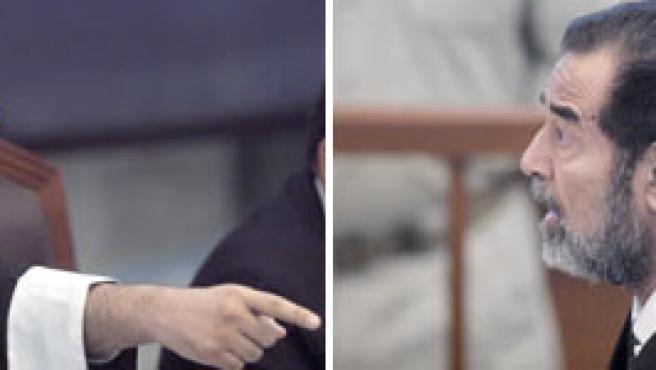El nuevo juez expulsa a Sadam (Erik de Castro / Efe)