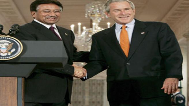 Bush y Musharraf en la Casa Blanca
