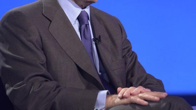 Foto de archivo de José María Aznar en una entrevista televisiva.