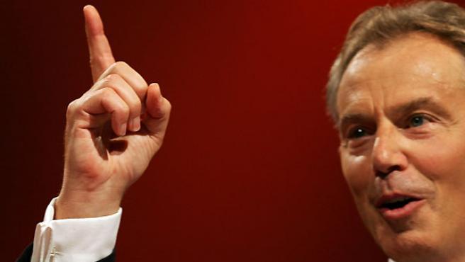 Blair durante su último discurso oficial ante los laboristas (Reuters)