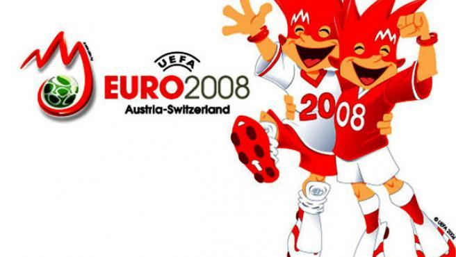 Las maxscotas de la Eurocopa 2008(EFE/UEFA).