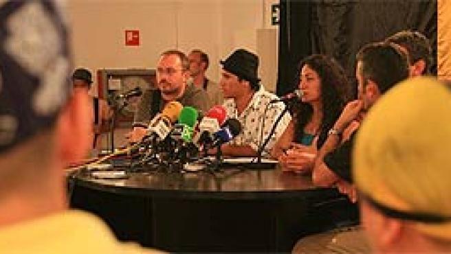 Queen Melody, jefa de las Latin Queen en una rueda de prensa posterior a su legalización en Cataluña (Archivo)