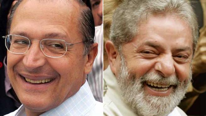 Geraldo Alckmin y Luiz Inacio Lula da Silva (C.Barreira y P.Whitaker / Reuters)