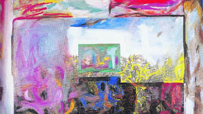 Dama de día, galán de noche, obra de la artista Victoria Gil (ganadora Premio Pintura en 1977) (Archivo).