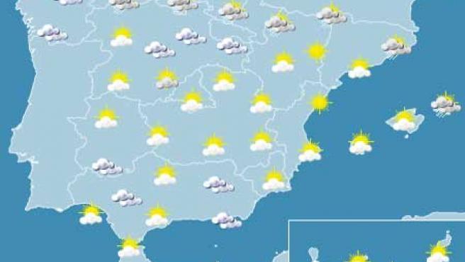 Previsión meteorológica para hoy.