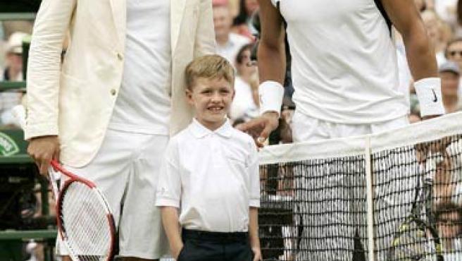 Esta imagen de la final de Wimbledon podría repetirse en Madrid.