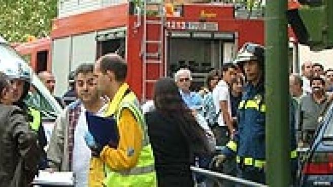El coche se subió a la acera e hirió a ocho peatones (Ayuntamiento de Madrid)