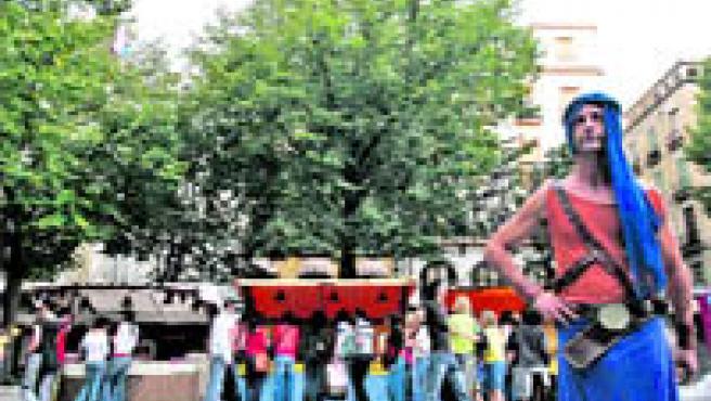 La plaza Bibrambla ya fue escenario de este mercado en la edición del año pasado.